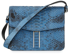 Hayward Matte Python Mini Crossbody Bag, Sky Blue