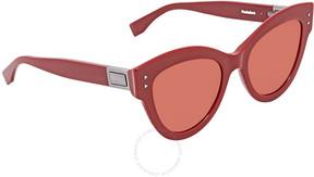 Fendi Red Cat Eye Sunglasses FF 0266/S C9A/U1