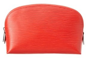 Louis Vuitton Orange Epi Leather Cosmetic Pouch.