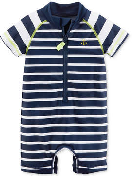 Carter's 1-Pc. Striped Rash Guard Swimsuit, Baby Boys (0-24 months)
