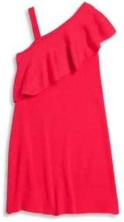 Milly Minis Toddler's, Little Girl's, & Girl's One Shoulder Ruffle Dress