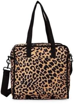 Le Sport Sac Medium Gabrielle Box Leopard Print Crossbody Bag