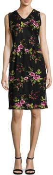 Donna Ricco Women's Embroidered Cocktail Dress