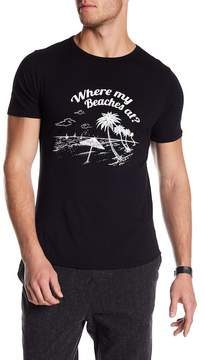 Kinetix Where My Beaches Graphic Print Tee