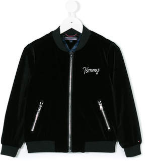 Tommy Hilfiger Junior plush bomber jacket
