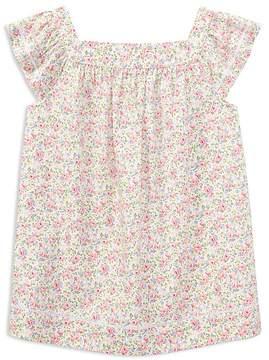 Polo Ralph Lauren Girls' Cotton Poplin Floral Top - Big Kid