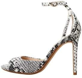 MANGO Snake-effect sandals