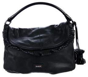 Max Mara Patent Leather-Trimmed Hobo