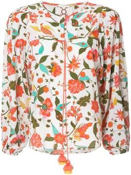 Figue Isadora floral-print peasant blouse