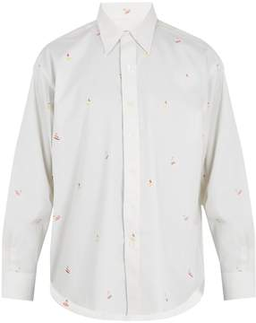 MAISON KITSUNÉ Surfer-jacquard cotton shirt