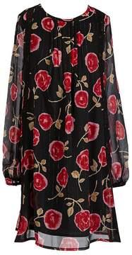 Kate Spade Big Girls 7-14 Chiffon Metallic-Rose Dress