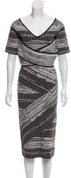 Christian Siriano Knit Midi Dress