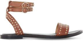 Dune Lagoma pin stud leather sandals