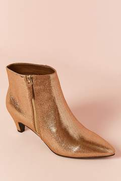 Forever 21 Metallic Faux Leather Ankle Boots