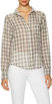 Velvet by Graham & Spencer Women's Plaid Cotton Button Up Shirt