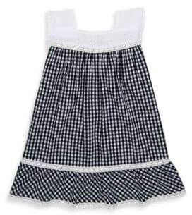 Design History Toddler's & Little Girl's Gingham Cap-Sleeve Dress
