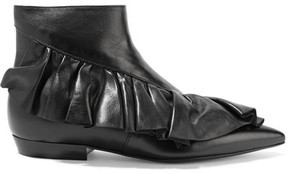 J.W.Anderson Ruffled Leather Ankle Boots - Black