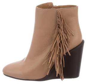 See by Chloe Fringe Wedge Ankle Boots