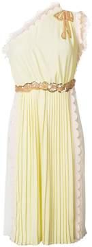 Elisabetta Franchi pleated one houlder dress