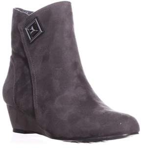 Impo Giovanna Wedge Ankle Booties, Seel Grey.