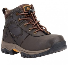 Timberland Unisex Infant Mt. Maddsen Mid Waterproof Boot Dark Brown Full Grain Leather Size 4 M