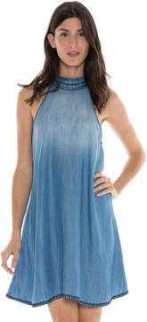Bella Dahl Blanket Stitched Halter Dress-Canyon Springs Wash-L