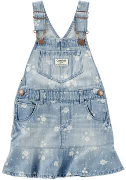 Osh Kosh Toddler Girl Denim Floral Print Peplum Jumper