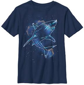 Fifth Sun Navy Shark Universe Crewneck Tee - Boys