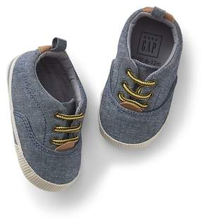 Gap Chambray Lace-Up Sneakers
