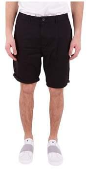 Scotch & Soda Men's Black Cotton Shorts.