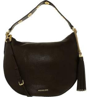 Michael Kors Brooklyn Large Convertible Leather Hobo - Coffee - 30F6ABNH3L-217 - BROWN - STYLE