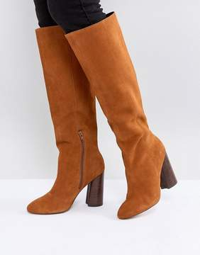 Asos CABRINIE Suede Pull On Knee Boots