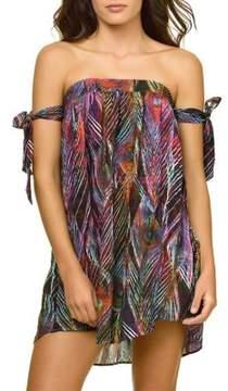 Pilyq Naya Printed Off-the-Shoulder Dress