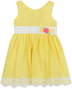 Rare Editions Gingham Seersucker Dress, Baby Girls