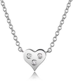 Forzieri 0.05 ct Diamond Heart Pendant Necklace