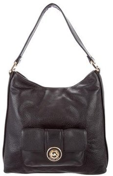 MICHAEL Michael Kors Grained Leather Hobo - BLACK - STYLE