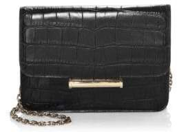 Jason Wu Diane Croc Embossed Leather Clutch