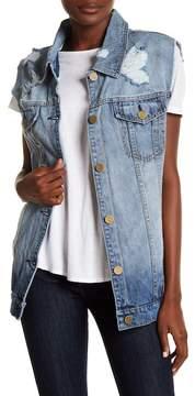 Billabong Love Like Summer Oversized Denim Vest