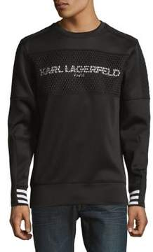 Karl Lagerfeld Quilted Graphic Sweater