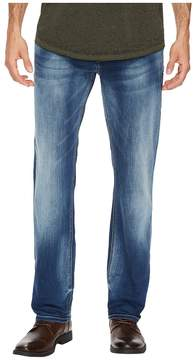 Buffalo David Bitton Evan-X Slim Straight Leg Jeans in Veined and Whiskered Men's Jeans