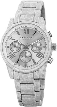 Akribos XXIV Unisex White Bracelet Watch-A-929wt