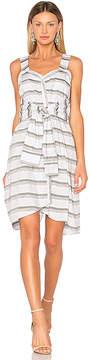 Derek Lam 10 Crosby Tie Front Stripe Dress