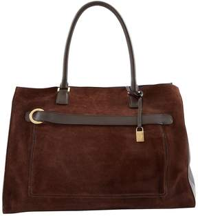 Loro Piana Brown Suede Handbag