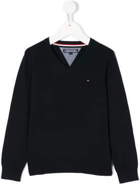 Tommy Hilfiger Junior v-neck jumper
