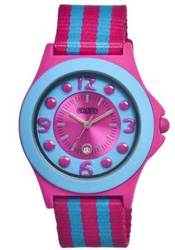 Crayo Carnival Hot Pink Stainless Steel Case Ladies Watch