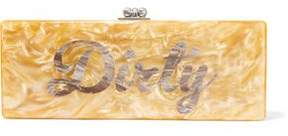 Edie Parker Flavia Dirty Acrylic Box Clutch