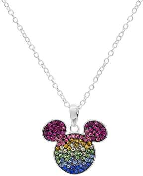Disney Disney's Mickey Mouse Sterling Silver Crystal Pendant Necklace