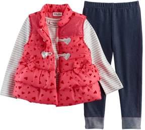 Little Lass Baby Girl Puffy Vest
