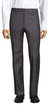 Zanella Straight-Fit Windowpane Wool Pants