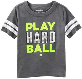 Osh Kosh Oshkosh Bgosh Toddler Boy Play Hard Ball Striped Tee